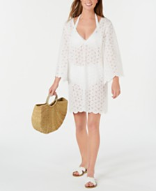kate spade new york Cotton Eyelet Cover-Up Dress