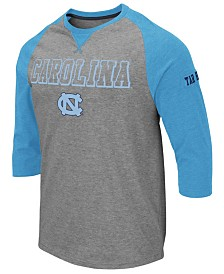 Colosseum Men's North Carolina Tar Heels Team Patch Three-Quarter Sleeve Raglan T-Shirt