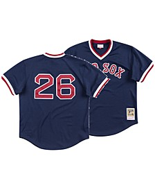Men's Wade Boggs Boston Red Sox Authentic Mesh Batting Practice V-Neck Jersey