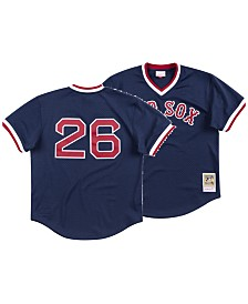 Mitchell & Ness Men's Wade Boggs Boston Red Sox Authentic Mesh Batting Practice V-Neck Jersey