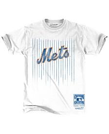 Mitchell & Ness Men's New York Mets Stripe Uni T-Shirt