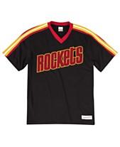 51737069e Mitchell & Ness Men's Houston Rockets Overtime Win V-Neck T-Shirt