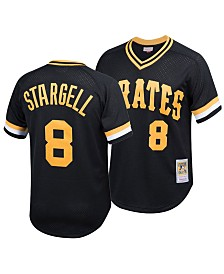 Mitchell & Ness Big Boys Willie Stargell Pittsburgh Pirates Mesh V-Neck Player Jersey