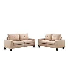 Platinum II Sofa and Loveseat