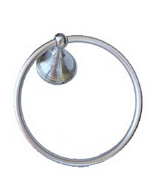 Arista Annchester Towel Ring Satin Nickel Finish