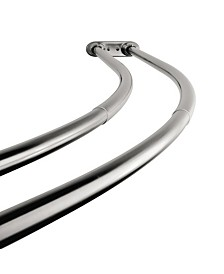 Arista Double Curved Adjustable Shower Rod Chrome Finish