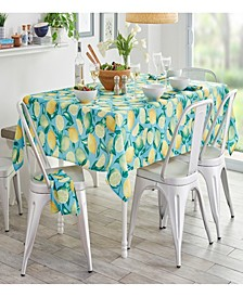 """Lemon Grove Stain Resistant Indoor Outdoor 60"""" x 84"""" Tablecloth"""