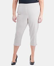 Plus Size Pull-On Capri Pants