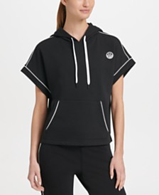 DKNY Sport Short-Sleeve Hoodie, Created for Macy's