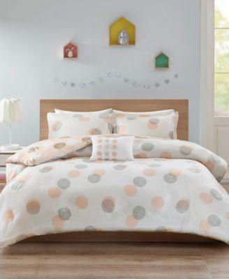 Mi Zone Emelia Metallic Dot Print Reversible Comforter Set