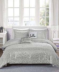 Intelligent Design Zoey King/California King 5-Pc. Metallic Triangle Print Comforter Set