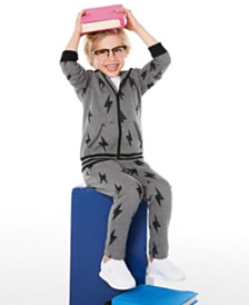 Epic Threads Little Boys Lightning Bolt Full-Zip Hoodie & Sweatpants, Created for Macy's