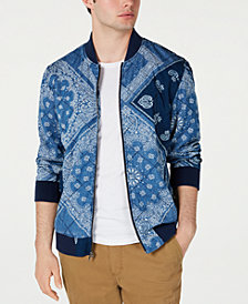 American Rag Men's Quilted Bandana Jacket, Created for Macy's