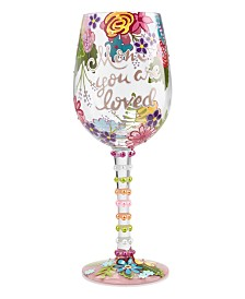Enesco Lolita Mom You Are Loved Wine Glass