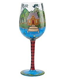 Lolita Lake House Wine Glass