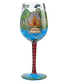 Enesco Lolita Lake House Wine Glass