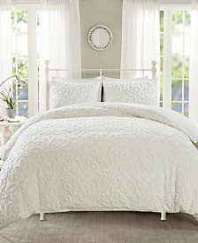 Madison Park Sabrina Full/Queen 3 Piece Tufted Cotton Chenille Duvet Cover Set