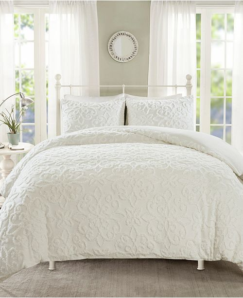 Madison Park Sabrina Full Queen 3 Piece Tufted Cotton Chenille