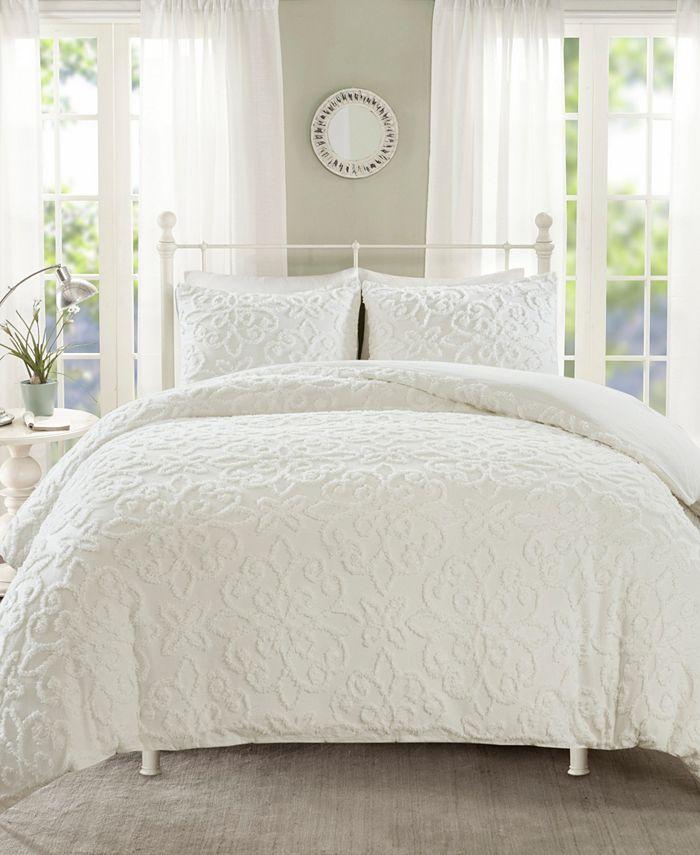 Madison Park - Sabrina 3-Pc. Tufted Cotton Chenille Duvet Cover Sets