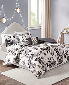 Dorsey 5-Pc. Floral Print Duvet Cover Sets