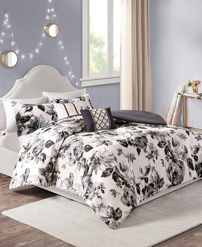 Intelligent Design - Dorsey 5-Pc. Floral Print Duvet Cover Sets