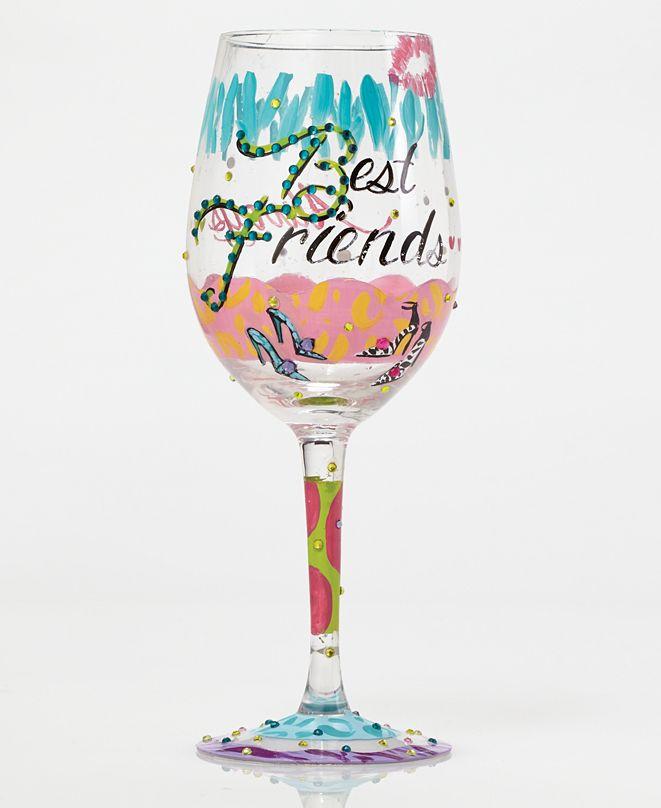 Enesco Lolita Best Friends Always Wine Glass