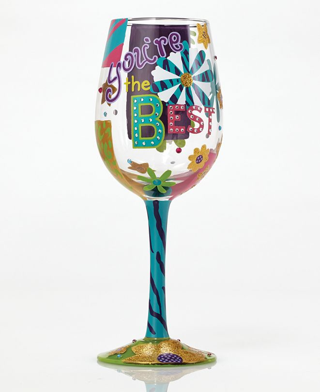 Enesco Lolita You're The Best Wine Glass