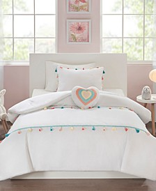Tessa Twin 3 Piece Tassel Comforter Set