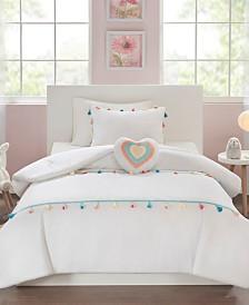 Mi Zone Kids Tessa Twin 3 Piece Tassel Comforter Set