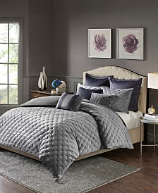 Madison Park Signature Sophisticate 8-Pc. Velvet Comforter Sets