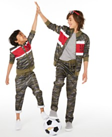 Epic Threads Brothers Visionary Camouflage Tricot Jacket & Pants, Created for Macy's
