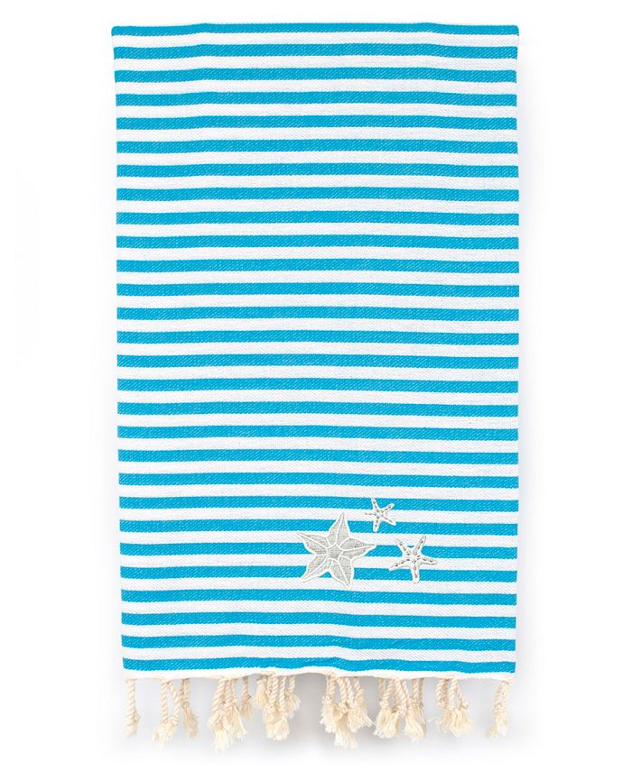 Linum Home - Fun in the Sun - Glittery Starfish Pestemal Beach Towel
