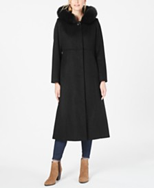Forecaster Fox-Fur-Trim Hooded Maxi Coat