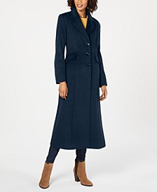 Notched-Collar Maxi Walker Coat