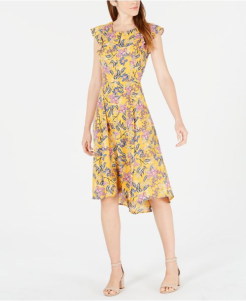 Maison Jules Floral-Print High-Low Dress, Created for Macy's