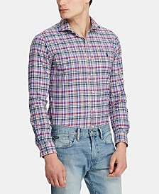 Polo Ralph Lauren Men's Classic Fit Plaid Performance Sport Shirt
