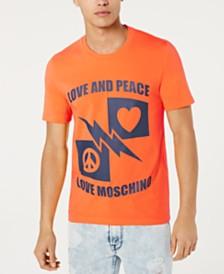 Love Moschino Men's Orange Lightning Graphic T-Shirt