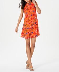 Calvin Klein Printed Sleeveless Swing Dress