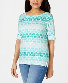 Ombré Shells Boat-Neck Top, Created for Macy's