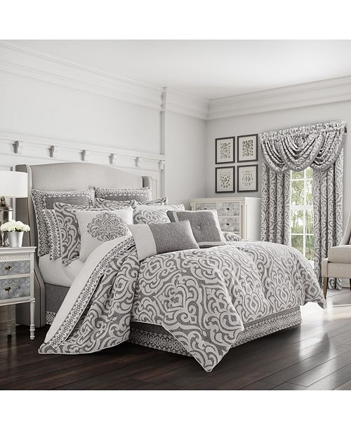 J Queen New York J Queen Pierce Charcoal California King Comforter Set