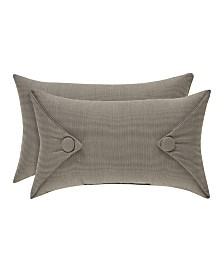"""J Queen Sutton Charcoal 12x20"""" Pillow"""