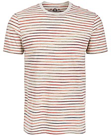 Men's Multicolor Feeder Stripe T-Shirt, Created for Macy's