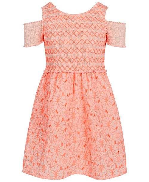 Epic Threads Little Girls Smocked Embroidered Dress, Created for Macy's