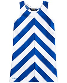 Toddler Girls Chevron Stretch Ponté Knit Dress