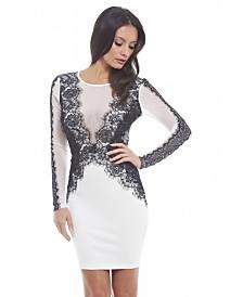 AX Paris Lace Detailed Bodycon Dress
