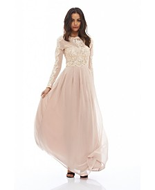 AX Paris Long Sleeved Lace Maxi Dress