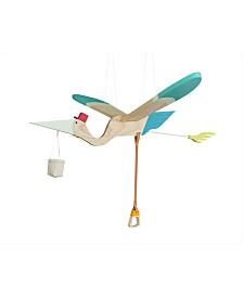 Hanging Wooden Mobile Pelican
