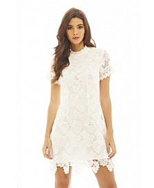 High Necked Lace Dress