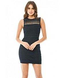 Sleeveless Crochet Bodycon Mini Dress