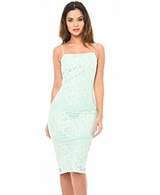 Strappy Lace Midi Dress
